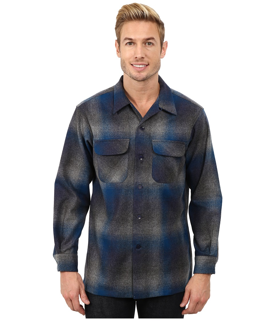 Pendleton - Board Shirt (Black/Charcoal 2) Men's Clothing