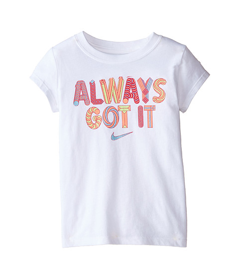 Nike Kids - Always Got It Tee (Little Kids) (White) Girl's T Shirt