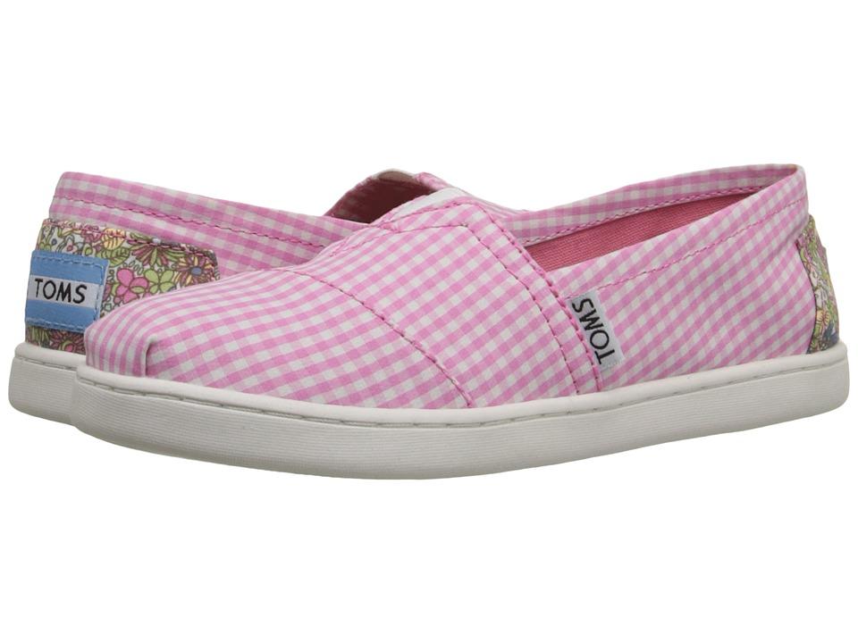 TOMS Kids - Seasonal Classics (Little Kid/Big Kid) (Pink Gingham) Kids Shoes