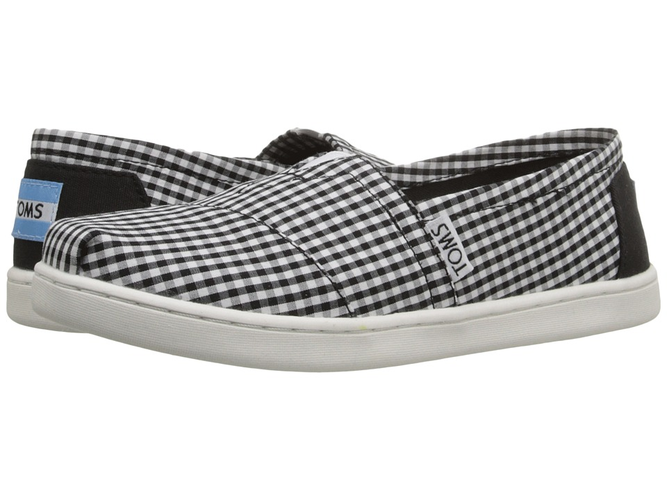 TOMS Kids - Seasonal Classics (Little Kid/Big Kid) (Black Gingham) Kids Shoes