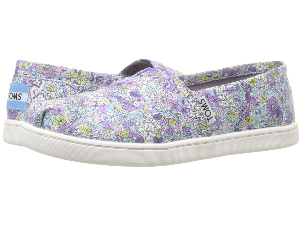 TOMS Kids - Seasonal Classics (Little Kid/Big Kid) (Purple Canvas Ditsy Floral) Kids Shoes