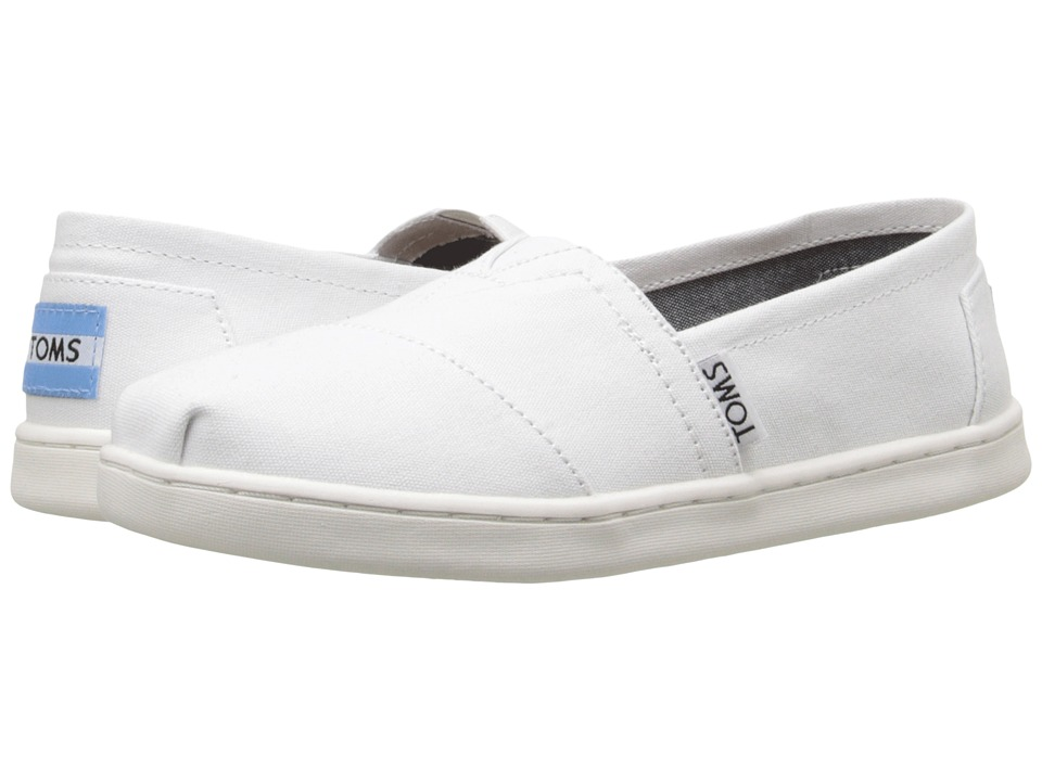 TOMS Kids - Seasonal Classics (Little Kid/Big Kid) (Optic White Canvas) Kids Shoes