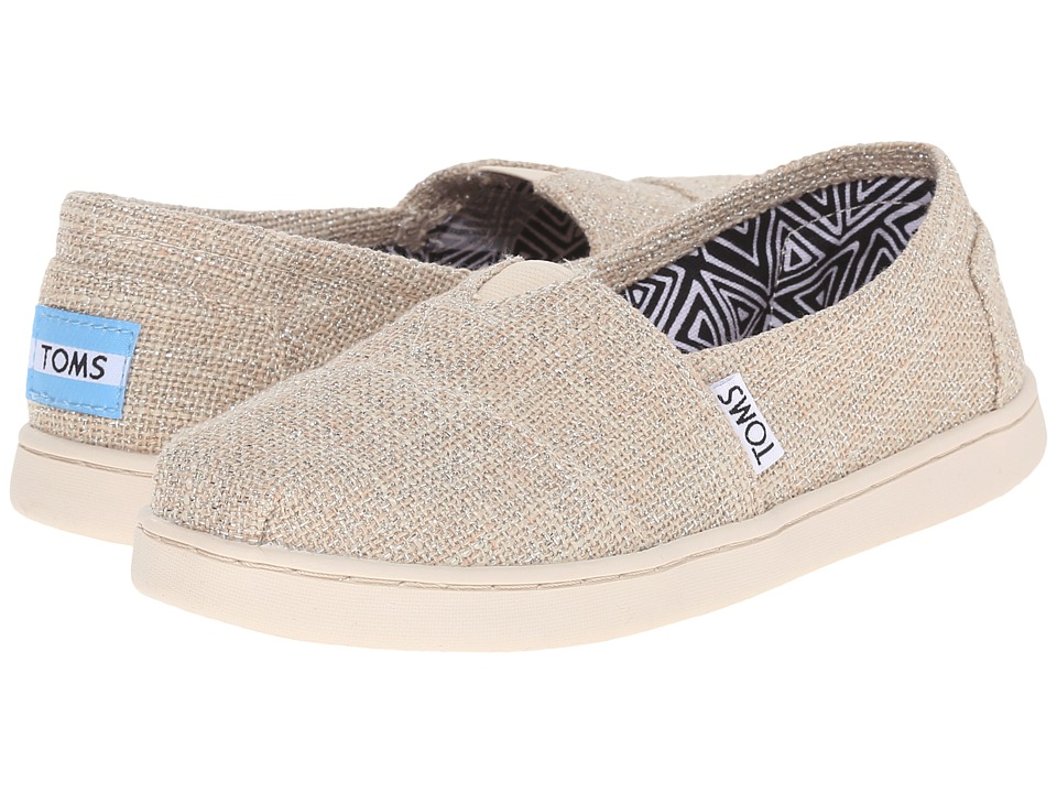 TOMS Kids - Seasonal Classics (Little Kid/Big Kid) (Natural Linen Glimmer) Kids Shoes