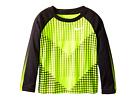 Nike Kids - Chevron Squares Dri-Fit Long Sleeve Raglan Shirt (Toddler)