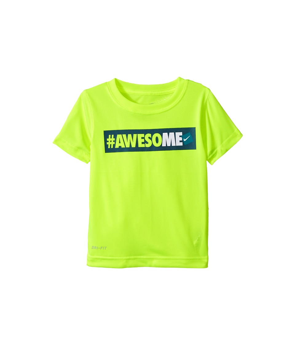 Nike Kids - Hashtag Awesome Tee (Toddler) (Volt) Boy