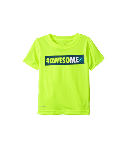 Nike Kids - Hashtag Awesome Tee (Toddler) (Volt) Boy's T Shirt