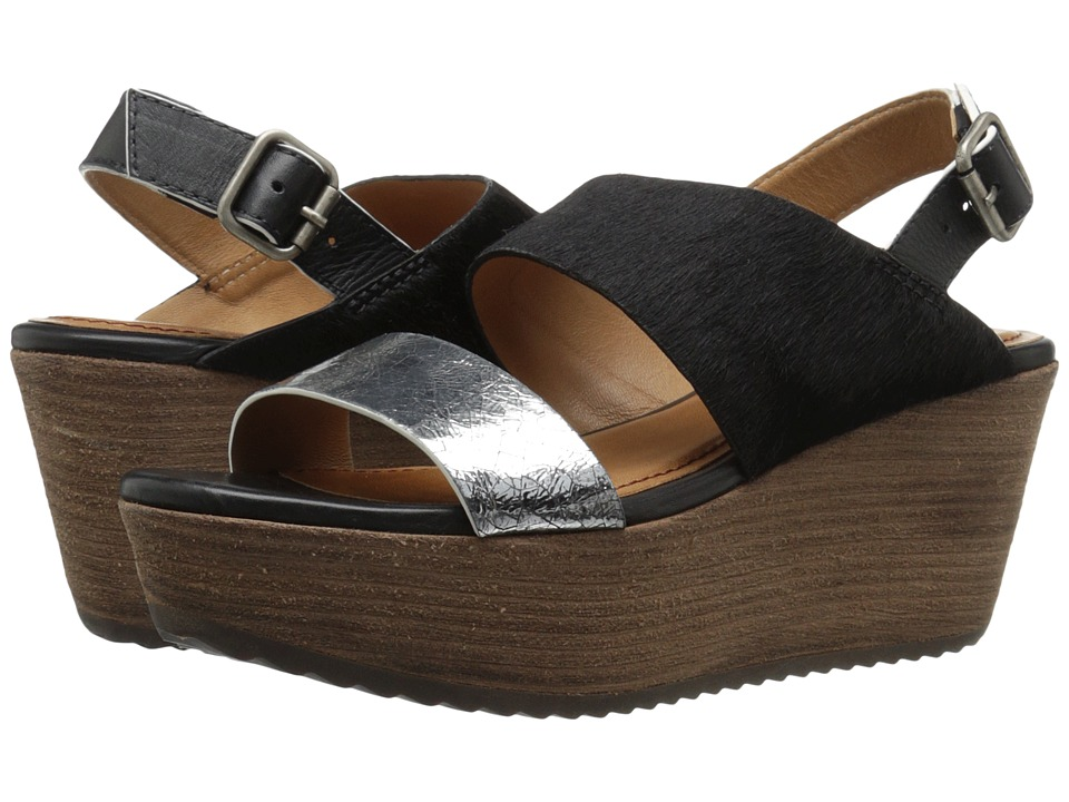 Trask Robyn (Silver Metallic Calfskin/Black Haircalf/Black Veg-Tanned Steer) Women