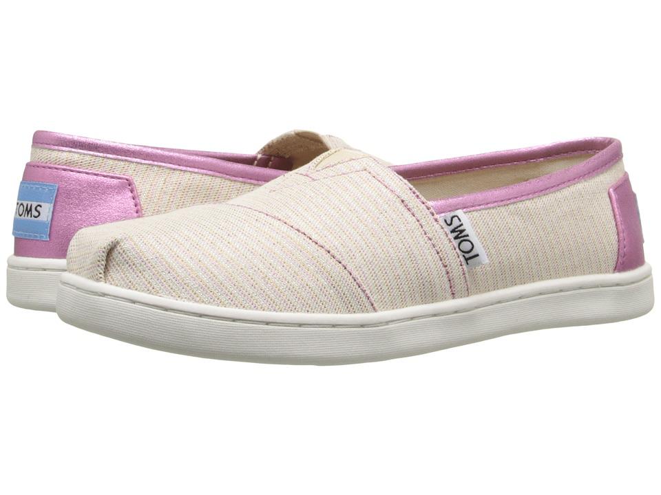 TOMS Kids - Seasonal Classics (Little Kid/Big Kid) (Lavender Stripe Glimmer) Kids Shoes