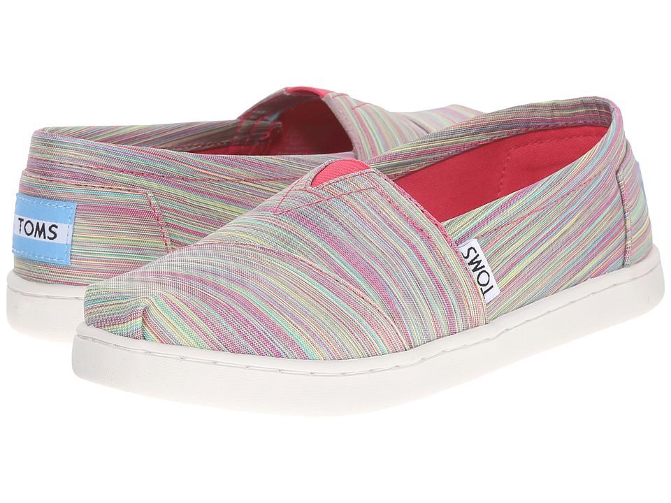 TOMS Kids - Seasonal Classics (Little Kid/Big Kid) (Pink Multi Nylon) Kids Shoes