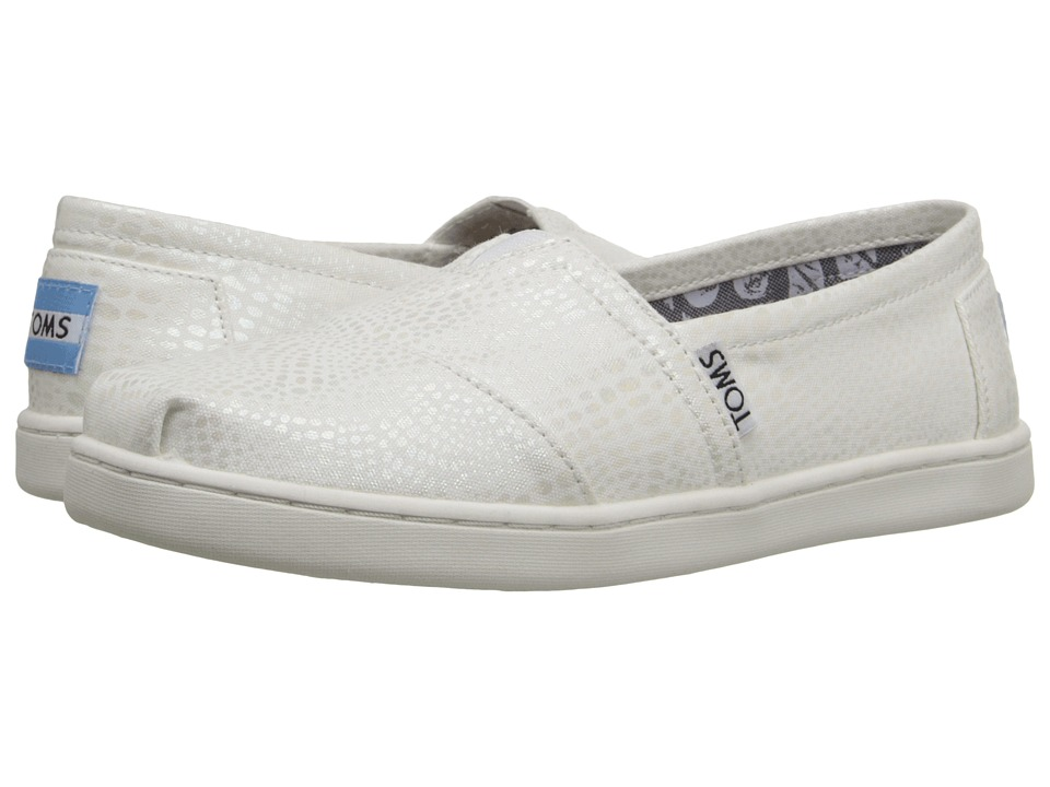 TOMS Kids - Seasonal Classics (Little Kid/Big Kid) (White Iridescent Snake) Kids Shoes
