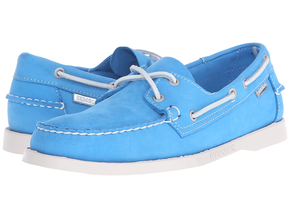 Sebago - Dockside 70th Anniversary (Aqua Blue Nubuck) Men's Shoes