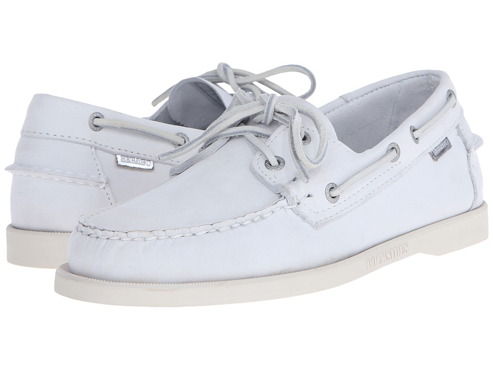 Sebago - Dockside 70th Anniversary (White Leather) Men's Shoes