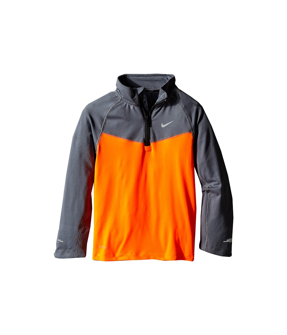 Nike Kids - Element Half Zip Top (Little Kids) (Total Orange) Boy
