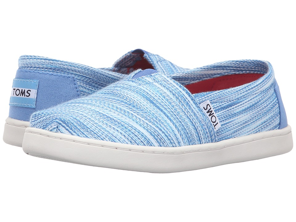 TOMS Kids - Seasonal Classics (Little Kid/Big Kid) (Blue Space Dye) Kids Shoes