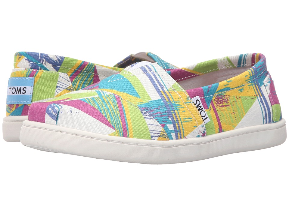 TOMS Kids - Seasonal Classics (Little Kid/Big Kid) (Bright Multi Canvas Triangles) Kids Shoes