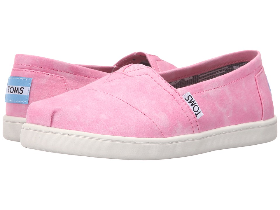 TOMS Kids - Seasonal Classics (Little Kid/Big Kid) (Pink Canvas Tie-Dye) Kids Shoes