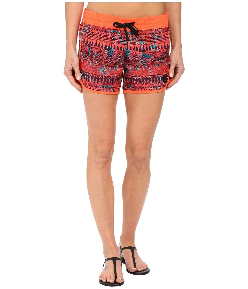 Hurley - Supersuede 5 Beachrider (Bright Crimson) Women's Swimwear