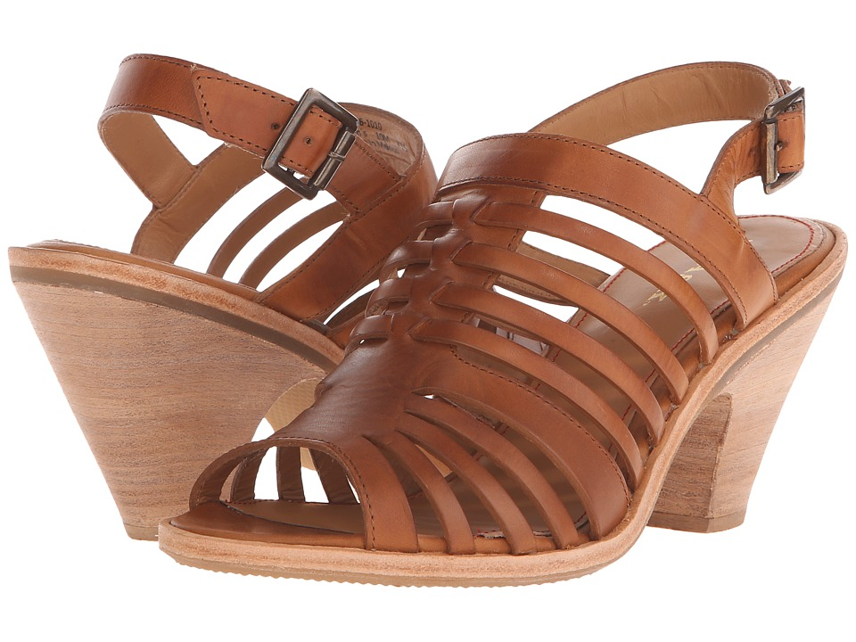 Trask Selene (Tan Italian Veg-Tanned Steer) High Heels