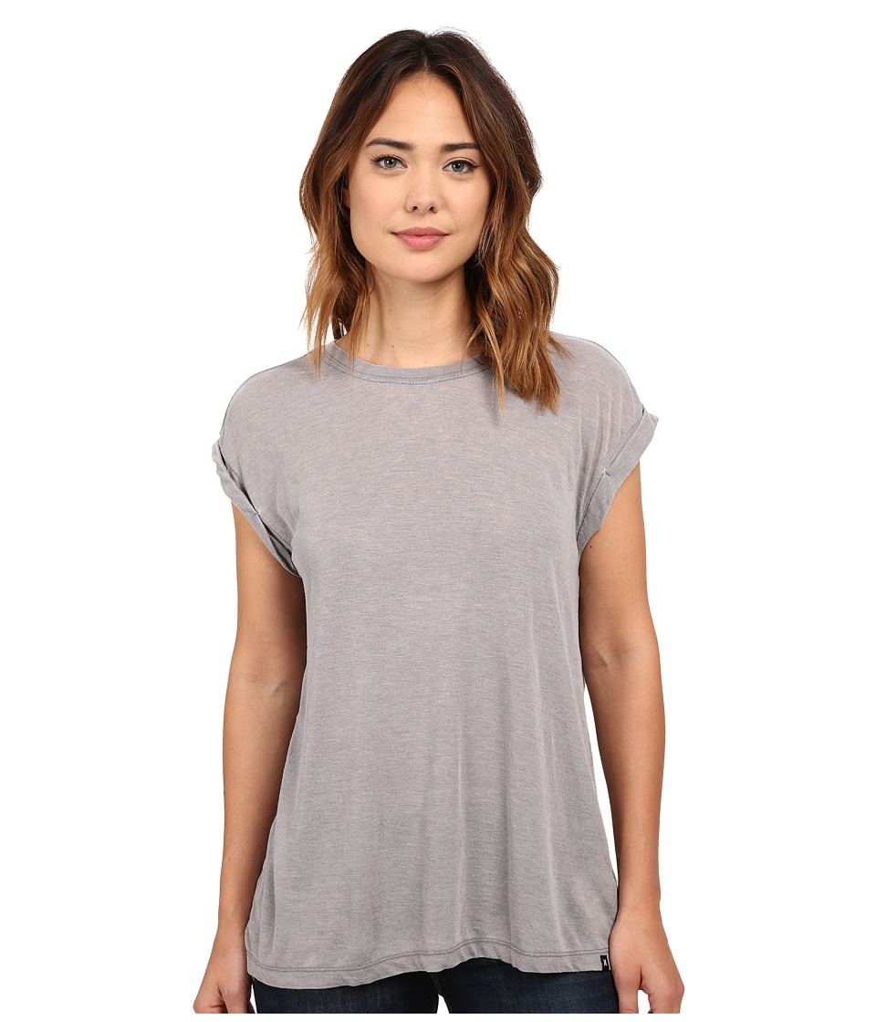 Hurley - Staple Novelty Crew (Carbon Heather) Women's T Shirt