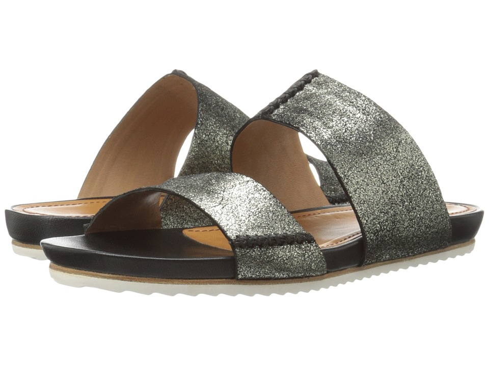 Trask - Shea (Pewter Metallic Suede) Women's Sandals