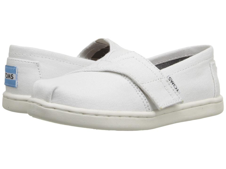 TOMS Kids - Seasonal Classics (Infant/Toddler/Little Kid) (Optic White Canvas) Kids Shoes