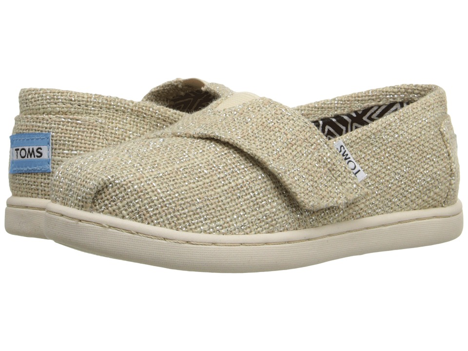 TOMS Kids - Seasonal Classics (Infant/Toddler/Little Kid) (Natural Linen Glimmer) Kids Shoes