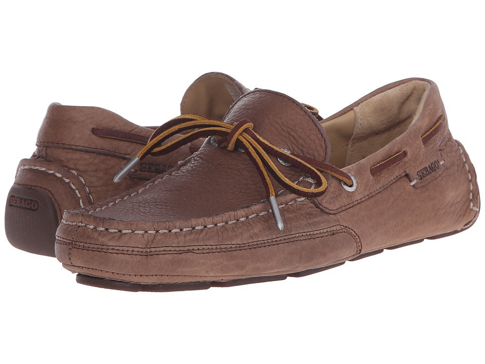 Sebago - Kedge Tie (Brown Bison Leather) Men's Shoes