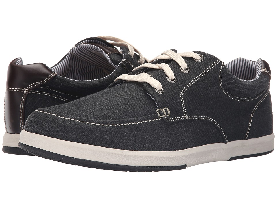 Sebago - Mason Lace-Up (Black Canvas/Leather 1) Men's Shoes