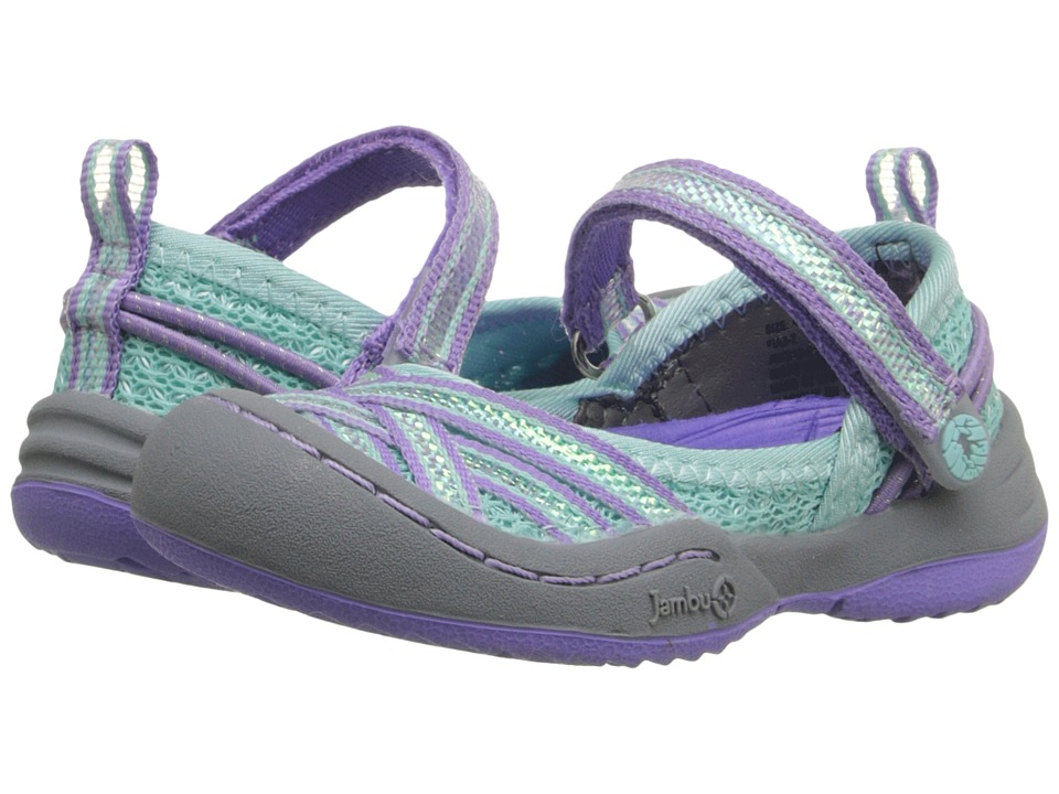 Jambu Kids - Fia 3 (Toddler) (Aqua/Purple) Girls Shoes