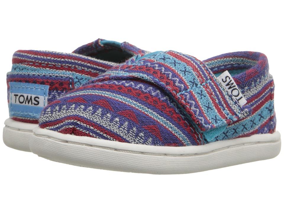 TOMS Kids - Seasonal Classics (Infant/Toddler/Little Kid) (Aqua Geo Textile) Kids Shoes