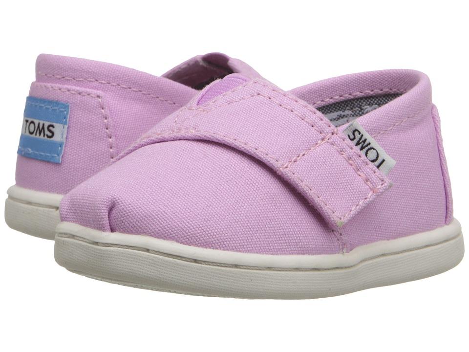 TOMS Kids - Seasonal Classics (Infant/Toddler/Little Kid) (Pastel Lavendar Canvas) Kids Shoes