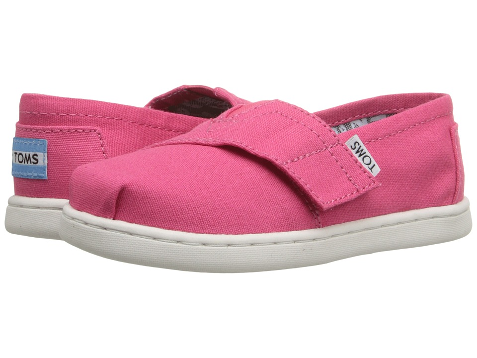 TOMS Kids - Seasonal Classics (Infant/Toddler/Little Kid) (Barberry Pink Canvas) Kids Shoes