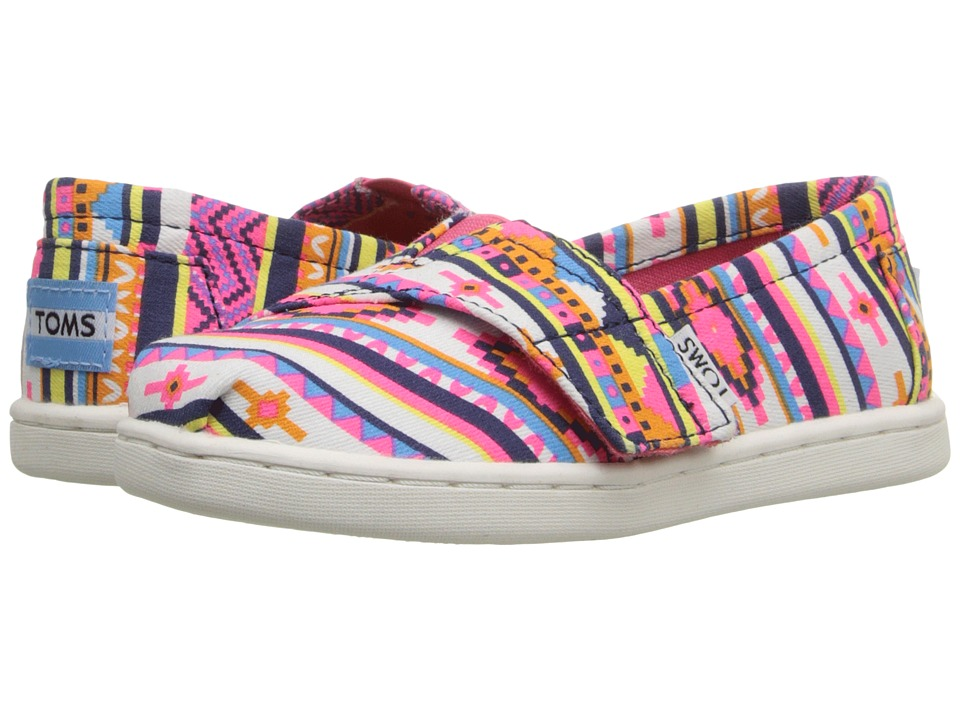 TOMS Kids - Seasonal Classics (Infant/Toddler/Little Kid) (Pink Geo Textile) Kids Shoes