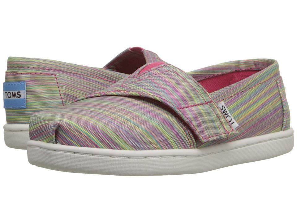 TOMS Kids - Seasonal Classics (Infant/Toddler/Little Kid) (Pink Multi Nylon) Kids Shoes