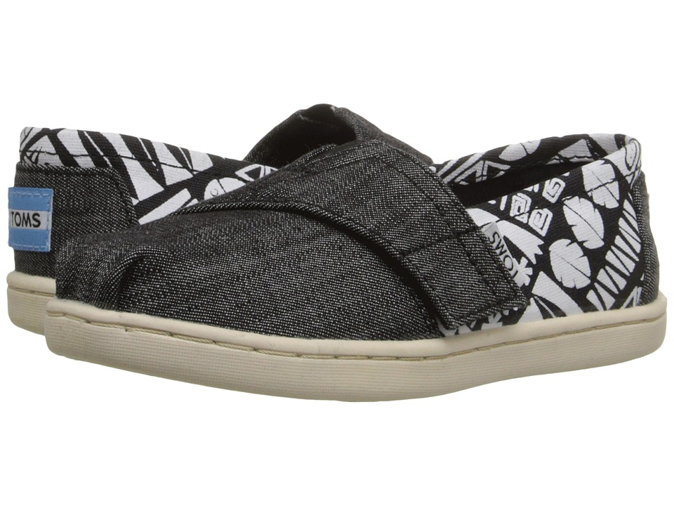 TOMS Kids - Seasonal Classics (Infant/Toddler/Little Kid) (Black Chambray Tiki) Kids Shoes