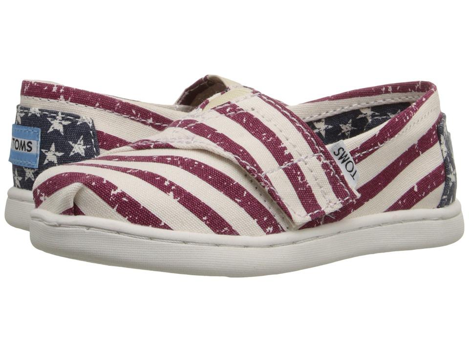 TOMS Kids - Seasonal Classics (Infant/Toddler/Little Kid) (Americana Canvas Flag) Kids Shoes