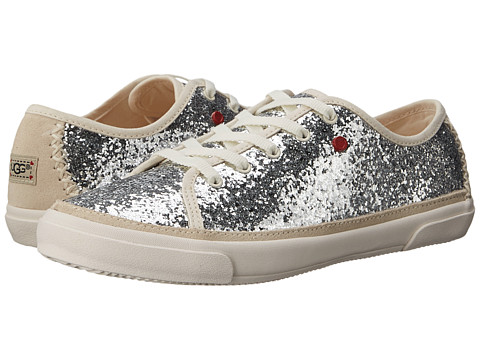 UGG Kids - Lace-Up Glitter (Little Kid/Big Kid) (Ice Textile) Girls Shoes