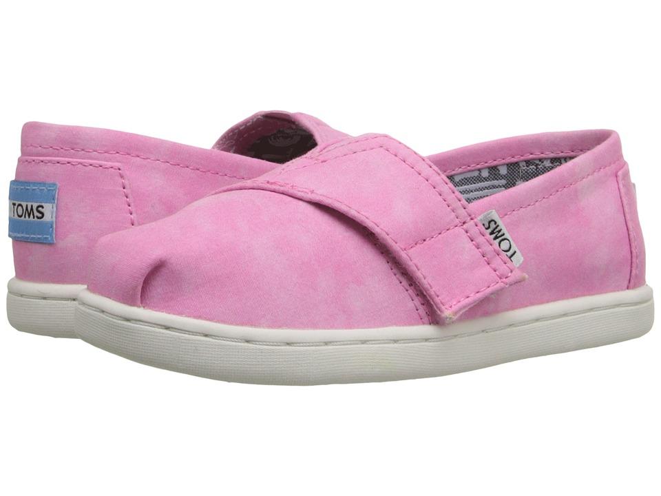 TOMS Kids - Seasonal Classics (Infant/Toddler/Little Kid) (Pink Canvas Tie-Dye) Kids Shoes