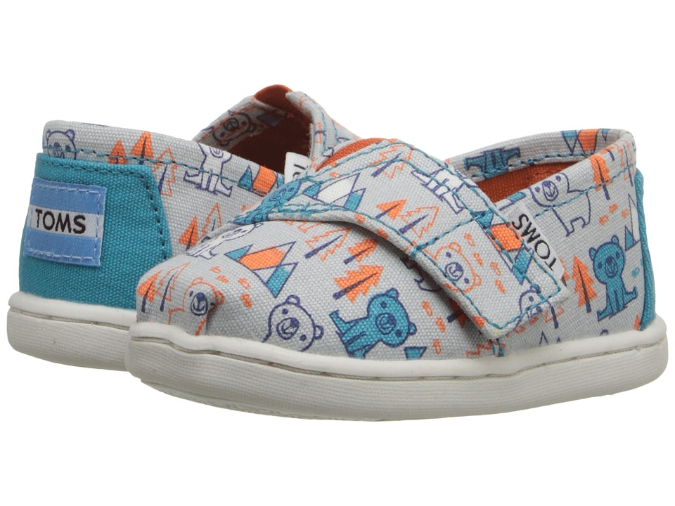 TOMS Kids - Seasonal Classics (Infant/Toddler/Little Kid) (Grey Multi Canvas Bears) Kids Shoes