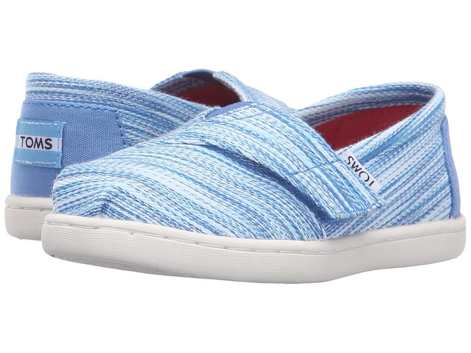 TOMS Kids - Seasonal Classics (Infant/Toddler/Little Kid) (Blue Space Dye) Kids Shoes