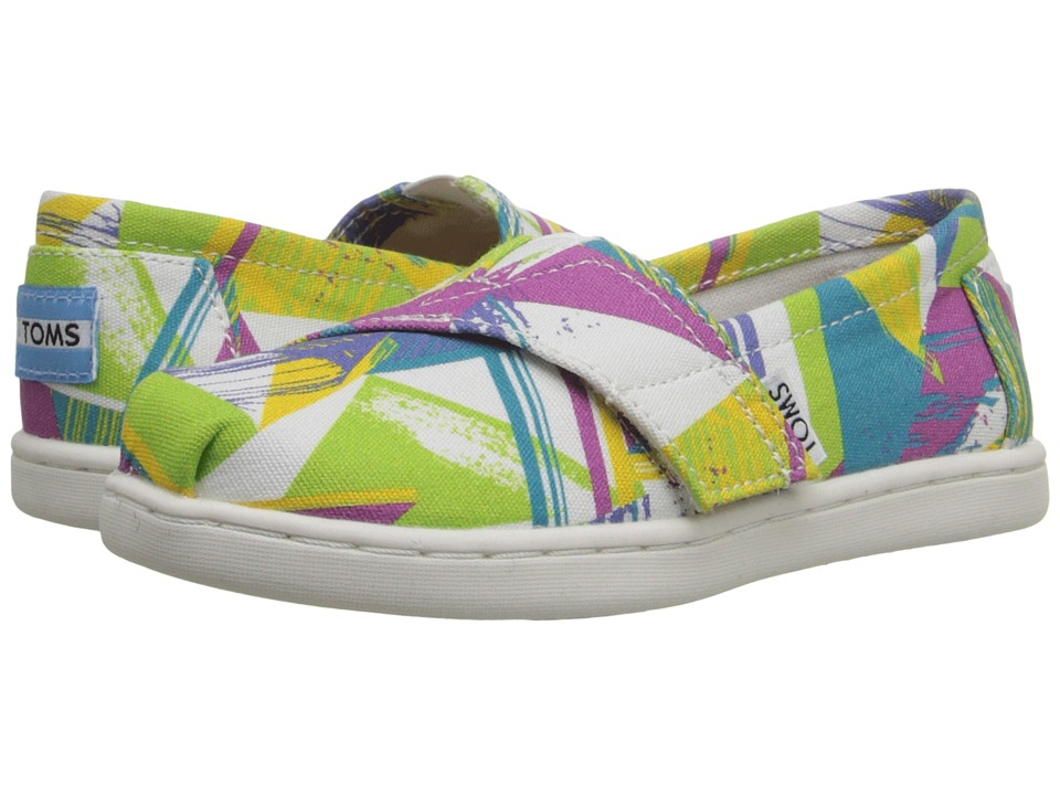 TOMS Kids - Seasonal Classics (Infant/Toddler/Little Kid) (Bright Multi Canvas Triangles) Kids Shoes