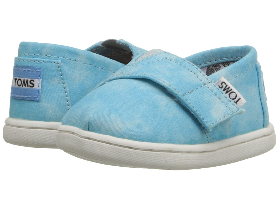 TOMS Kids - Seasonal Classics (Infant/Toddler/Little Kid) (Aqua Canvas Tie-Dye) Kids Shoes