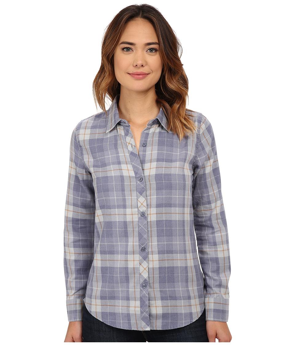 O'Neill - Birdie Top (Slate) Women's Long Sleeve Button Up