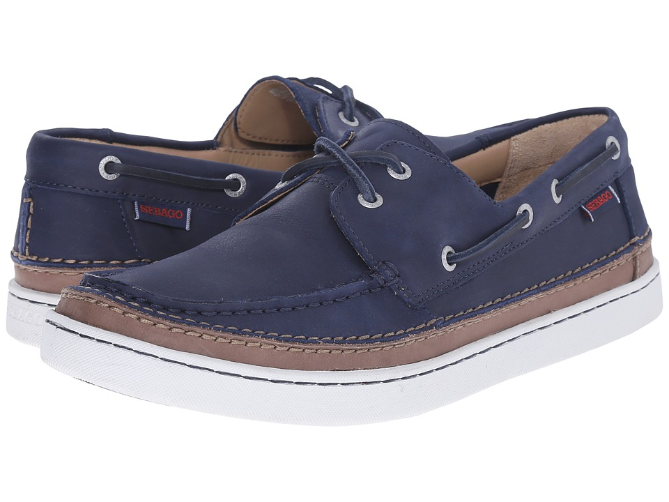 Sebago - Ryde Two Eye (Navy Leather) Men's Shoes