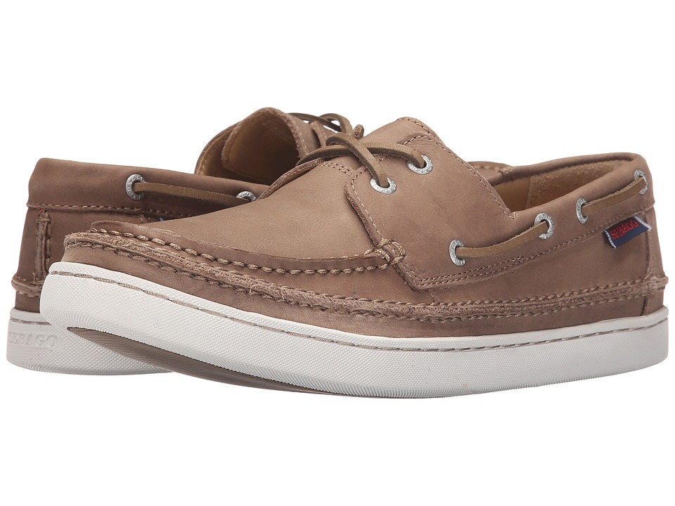 Sebago - Ryde Two Eye (Dark Taupe Leather) Men's Shoes