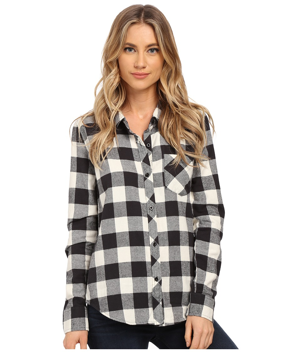 O'Neill - Huntington Top (Black) Women's Long Sleeve Button Up