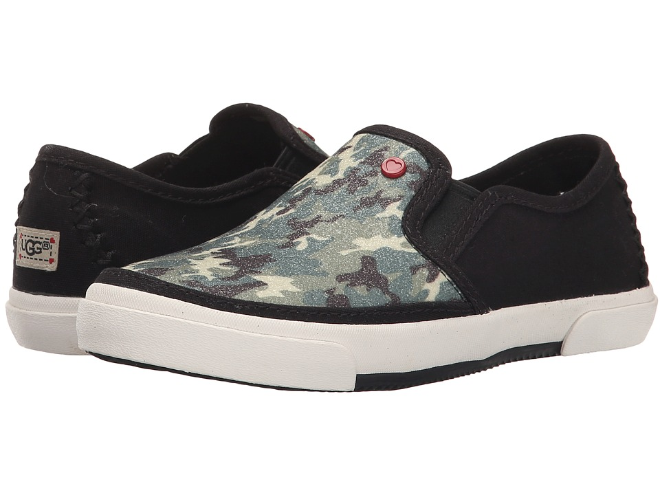 UGG Kids - Slip-On Glitter Camo (Little Kid/Big Kid) (Black) Girls Shoes