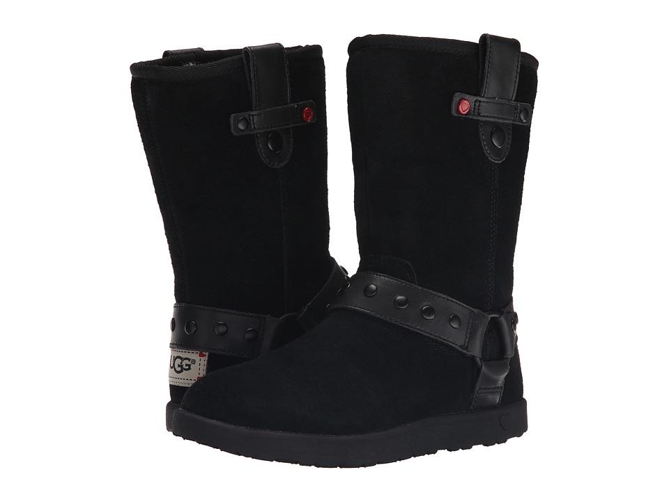 UGG Kids - Moto Short (Little Kid/Big Kid) (Black) Girls Shoes