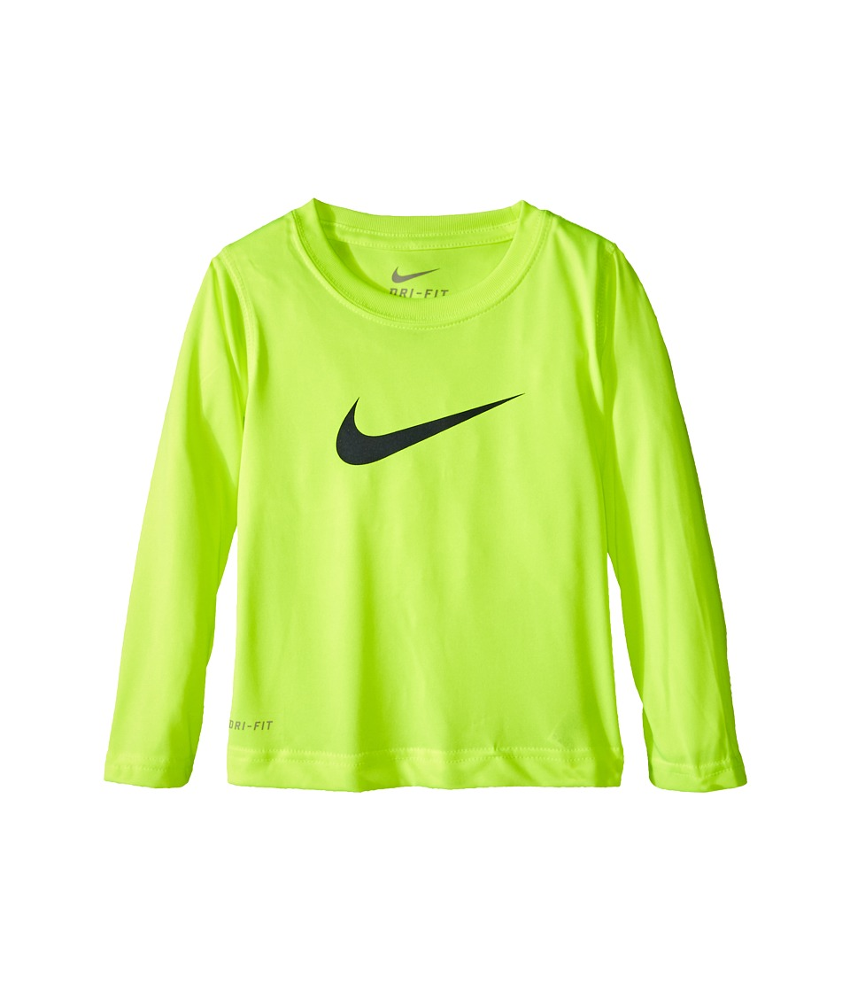 Nike Kids - Dri-Fit Legend Long Sleeve Tee (Toddler) (Volt) Boy's T Shirt