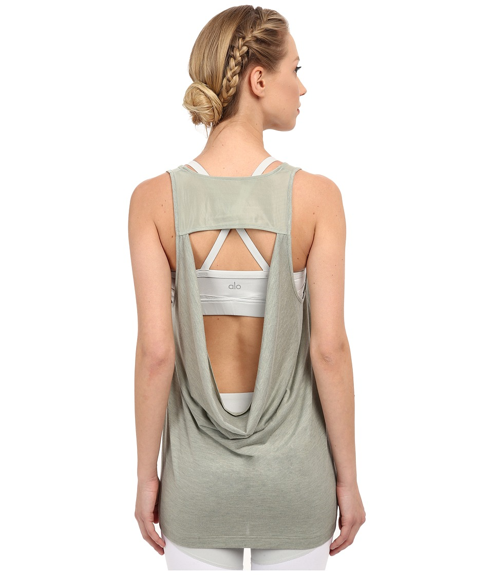 ALO - Vapor Tank (Sea Mist Fleck) Women's Sleeveless